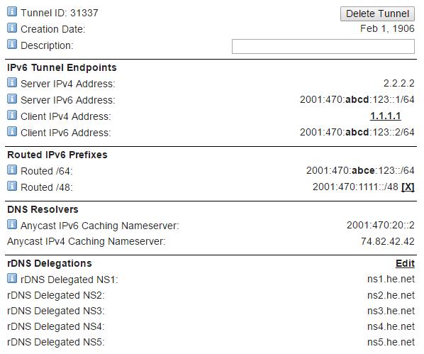 Ubiquiti EdgeRouter Tunnelbroker IPv6 Configuration - Nish